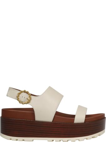 See by Chloé Buckled Wedge Sandals
