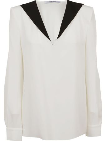 Givenchy Contrasting Collar Blouse