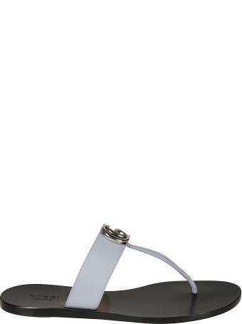 Gucci Plaque Logo Sandals