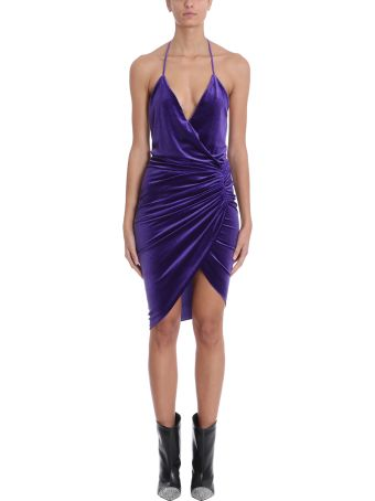Alexandre Vauthier Wrap Purple Velvet Body
