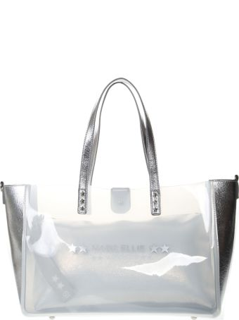 Marc Ellis White Leather And Pvc Tote
