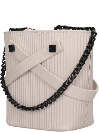 Visone Leila Shoulder Bag In White Leather