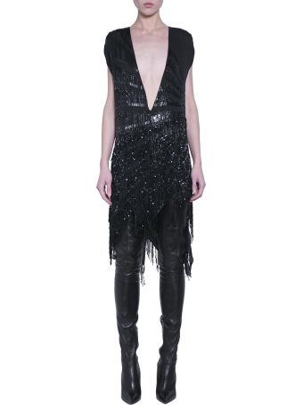 Amen Asymmetric Silk Dress