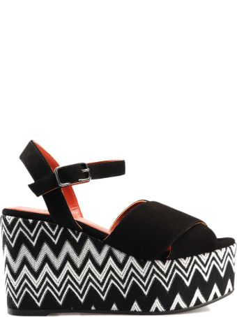 Castañer By Missoni Zig-zag Pattern Wedge Sandals