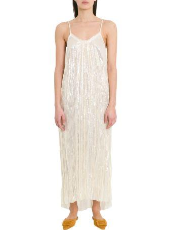 Forte_Forte Longline Dress In Lurex Silk Chiffon