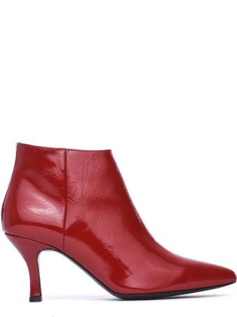 Janet & Janet Mina Red Ankle Boots