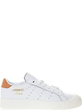 Adidas Originals Evryn White Leather With Orange Nubuck Insert