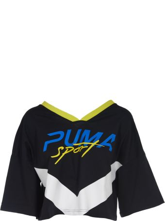 Puma Cropped V-neck T-shirt