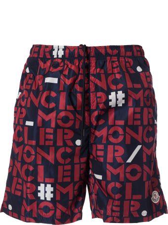 Moncler Genius Logo Print Shorts