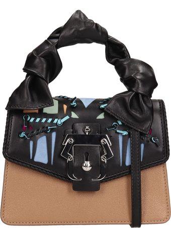 Paula Cademartori Black.beige Leather Manu Small Bag