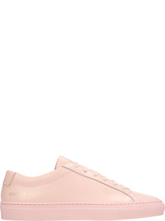 Common Projects Original Achilles Low Pink Leather Sneakers
