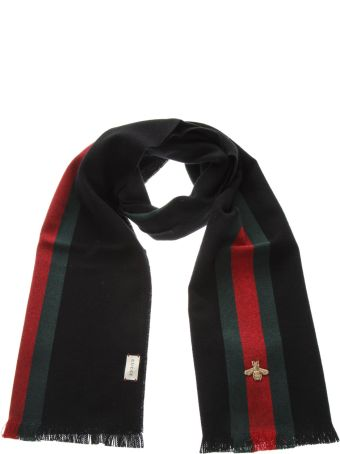 Gucci Silk & Cashmere Web Scarf