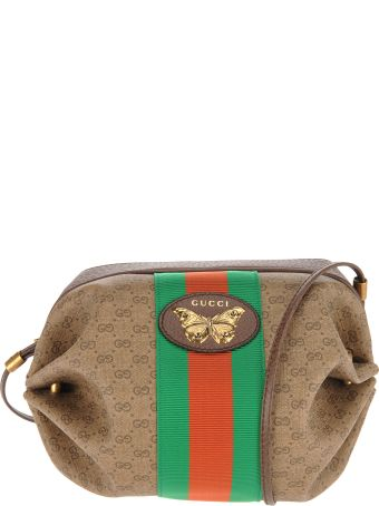 Gucci Gucci Mini Gg Bag With Web And Butterfly