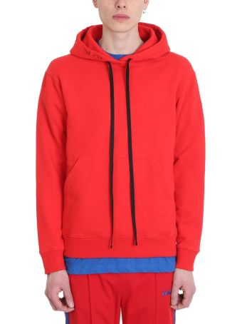 Ben Taverniti Unravel Project Red Cotton Hoodie