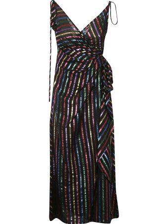 ATTICO Striped Slip Dress