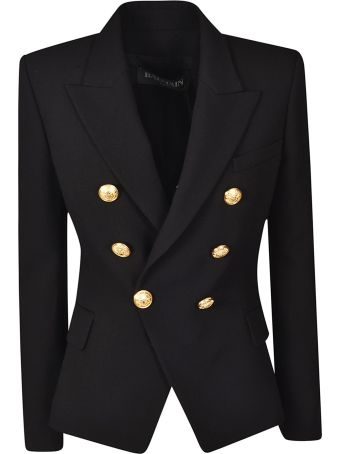 Balmain Embossed Button Blazer