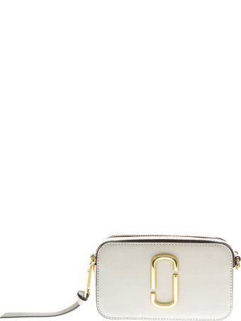 Marc Jacobs Porcellain Bag In Leather With Logo Print Shoulder Strap