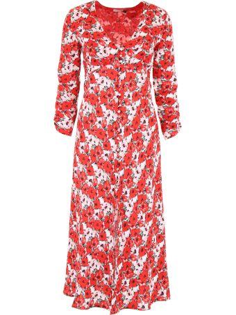 Rixo London Flowers Print Dress
