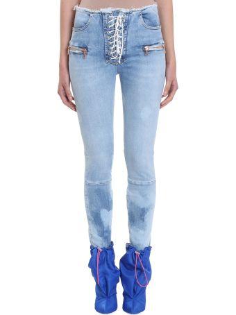 Ben Taverniti Unravel Project Stone 25 Lace Up Skinny Jeans