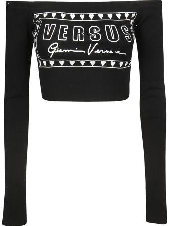 Versus Versace Logo Intarsia Cropped Top