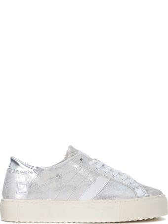 D.A.T.E. Vertigo Stardust Silver Laminated Leather Sneaker