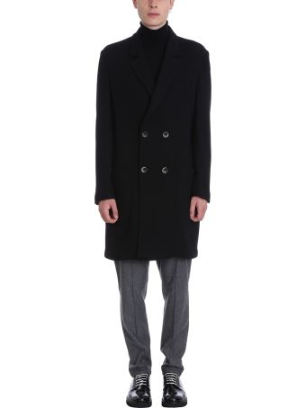 Low Brand Black Wool Coat