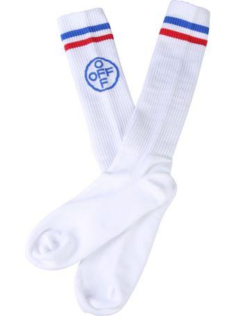 Off-White Cotton Sponge Socks