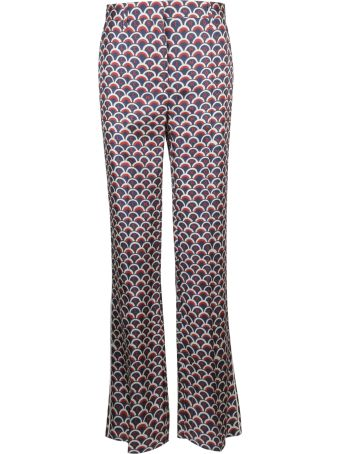 Valentino Scalloped Pattern Print Trousers