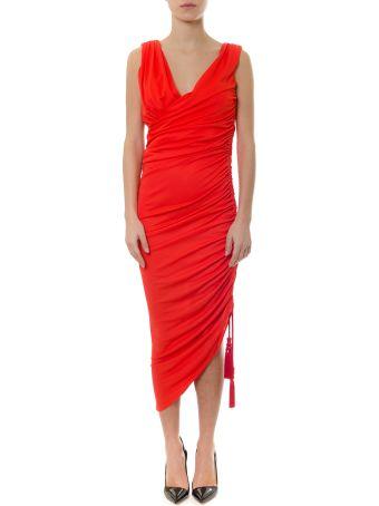 Lanvin Poppy Coloured Jersey Dress