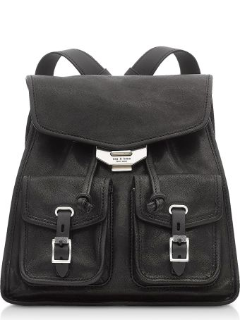 Rag & Bone Black Leather Field Small Backpack