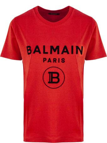 Balmain Red Cotton T-shirt