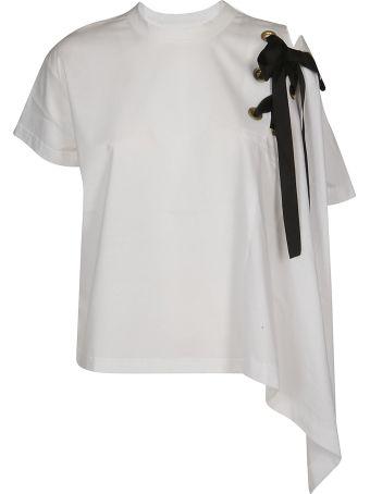 Sacai Embellished Asymmetric T-shirt