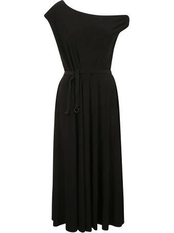 Norma Kamali Drop Shoulder Flared Dress