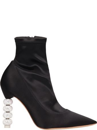 Sophia Webster Black Suede And Fabric Ankle Boots