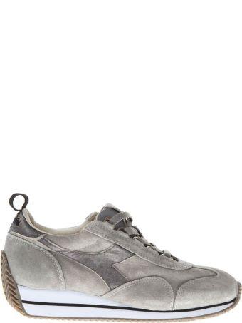 Diadora Heritage Grey Suede Shoes