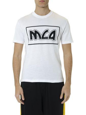 McQ Alexander McQueen White Cotton T Shirt With Logo Print