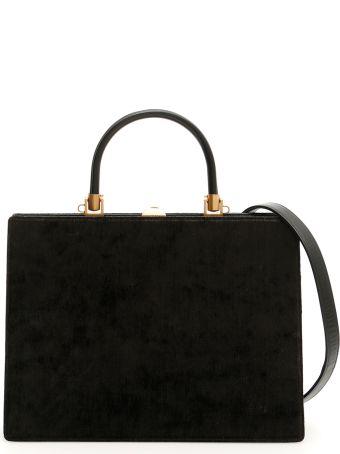 Rodo Velvet And Leather 70 Midi Bag