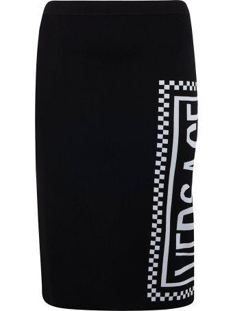 Versace Logo Print Skirt