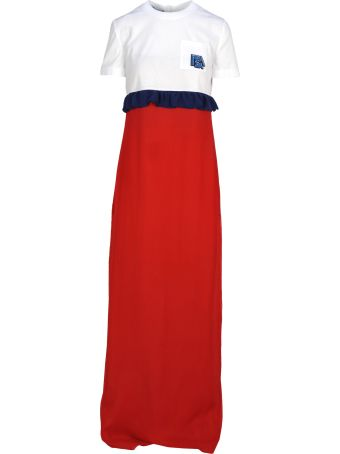 Prada Dress Long Ruffle