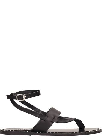 Rebecca Minkoff Black Leather Alma Sandals