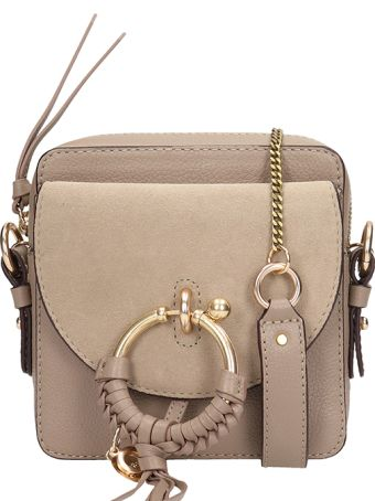 See by Chloé Grey Leather Joan Mini Bag In Suede