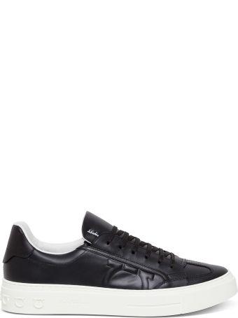 Salvatore Ferragamo Borg Leather Sneakers