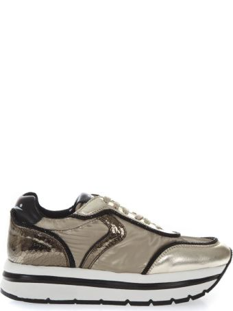 Voile Blanche May High Platine Leather & Nylon Sneakers