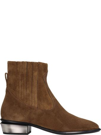 Kate Cate Cowboy Kate Ankle Boots In Leather Color Suede