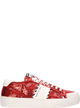 M.O.A. master of arts Red Sequins Low Sneakers