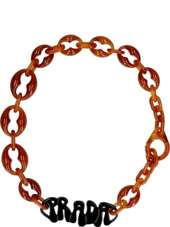 Prada ''70 Logo' Necklace