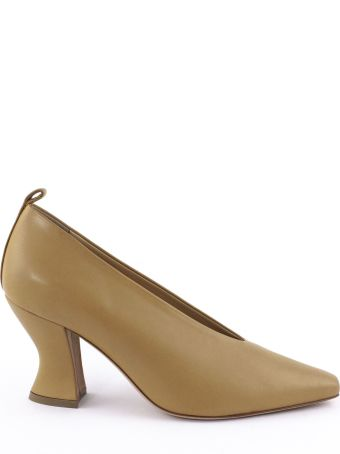 Aldo Castagna Bott Pumps In Brown Leather