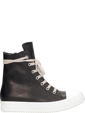 Rick Owens Sneakers Sneakers In Black Leather