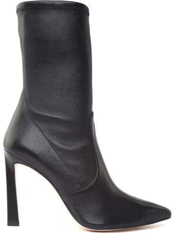 Stuart Weitzman Rapture 100 Stretch-leather Sock Boots