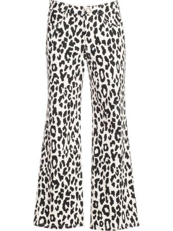See by Chloé Leopard Print Trousers